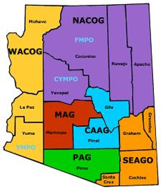 map of arizona councils of governments